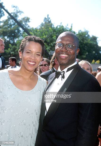 Actor Andre Braugher with his wife Ami Brabson during the Emmy Awards ceremony in Los Angeles CA September 13 1998