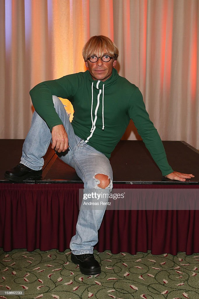 Actor Andre Eisermann poses during a photocall to present the 'Jedermann' (Everyman) theater performance at Kempinski Hotel Bristol on October 8, 2012 in Berlin, Germany. The performances will take place at the Berliner Dom cathedral from October 18 to 28.