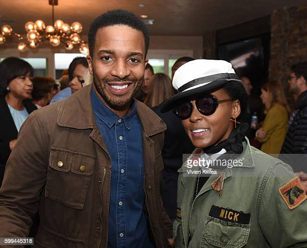 Actor Andre Holland and singer Janelle Monae attend the Telluride Film Festival 2016 on September 4 2016 in Telluride Colorado
