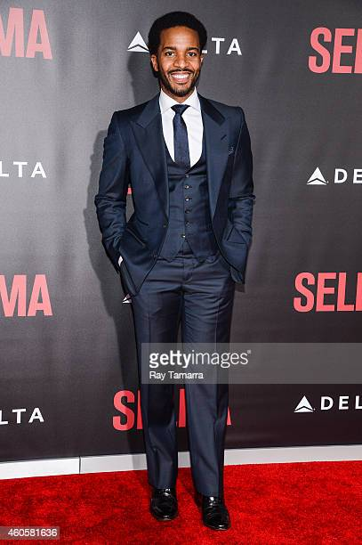 Actor Andre Holland enters the 'Selma' New York Premiere at the Ziegfeld Theater on December 14 2014 in New York City