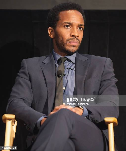 Actor Andre Holland takes part in a QA following the Cinemax screening panel and reception for 'The Knick' on July 23 2014 in New York City