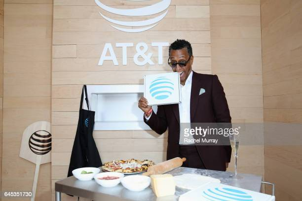 Actor Andre Royo poses at ATT's Jon Vinny's popup pizza bar at the 2017 Film Independent Spirit Awards sponsored by ATT at Santa Monica Pier on...