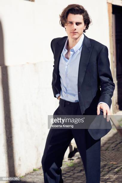 Actor Andrea Arcangeli is photographed for Self Assignment on March 092017 in Rome Italy