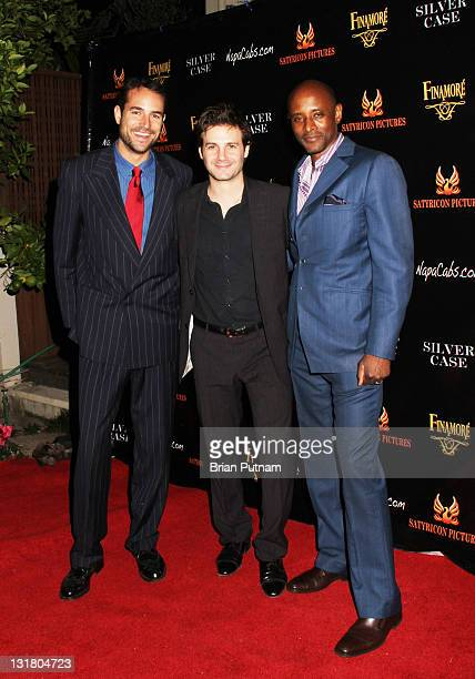 Actor Andrea Boccaletti director/producer Christian Filippella and actor Brian Keith Gamble attend the Wrap Party for the film 'Silver Case' on...