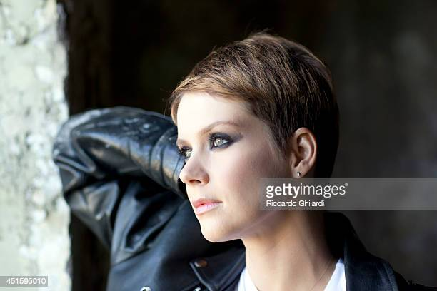 Actor Andrea Osvart is photographed on April 4 2014 in Rome Italy
