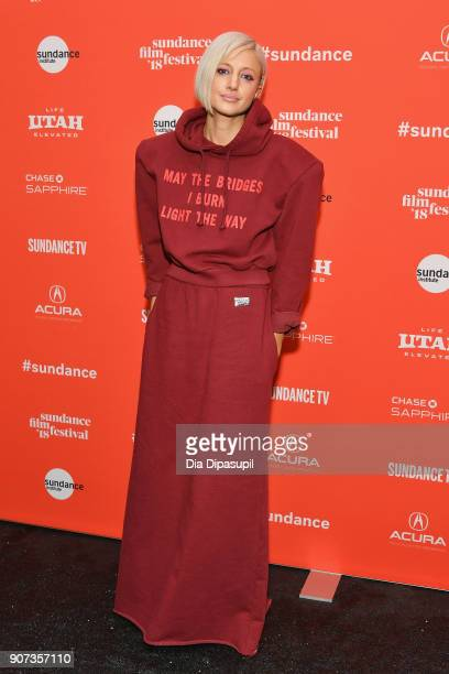 Actor Andrea Riseborough attends the Mandy Premiere during the 2018 Sundance Film Festival at Park City Library on January 19 2018 in Park City Utah