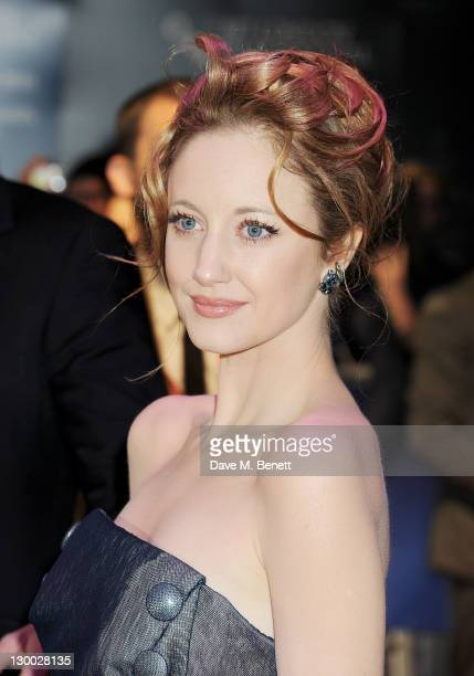 Actor Andrea Riseborough attends the Premiere of WE during the 55th BFI London Film Festival at Empire Leicester Square on October 23 2011 in London...