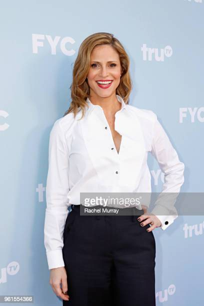 Actor Andrea Savage attends the FYC Event for truTV's At Home with Amy Sedaris I'm Sorry at NeueHouse Hollywood on May 22 2018 in Los Angeles...