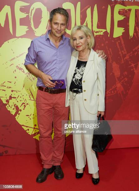 Actor Andreas Brucker and former news presenter Dagmar Berghoff pose during the premiere of choreographer Rasta Thomas' rock ballet 'Romeo and...