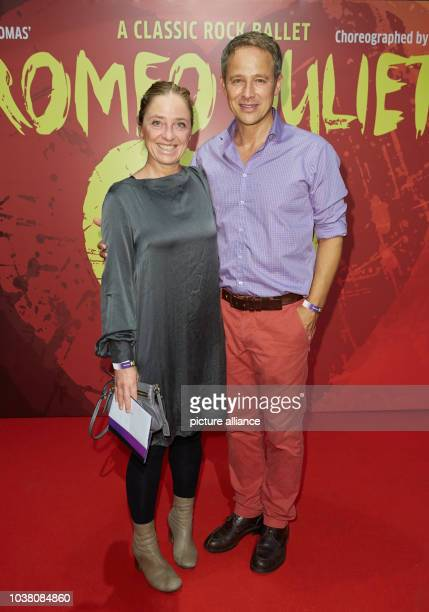 Actor Andreas Brucker and his wife Annett Heinrich pose during the premiere of choreographer Rasta Thomas' rock ballet 'Romeo and Juliet' in Hamburg...