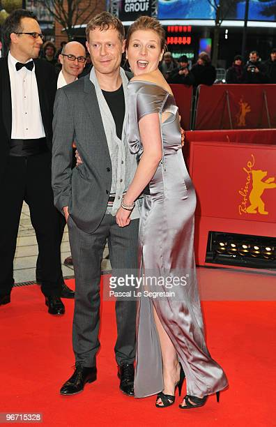 Actor Andreas Lust and actress Franziska Weisz attend the 'Der Raeuber' Premiere during day five of the 60th Berlin International Film Festival at...