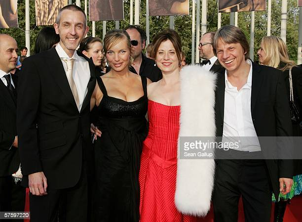 Actor Andreas Schmidt, pregnant actress Nadja Uhl, actress Inka Friedrich and director Andreas Dresen arrive at the German Film Awards at the Palais...