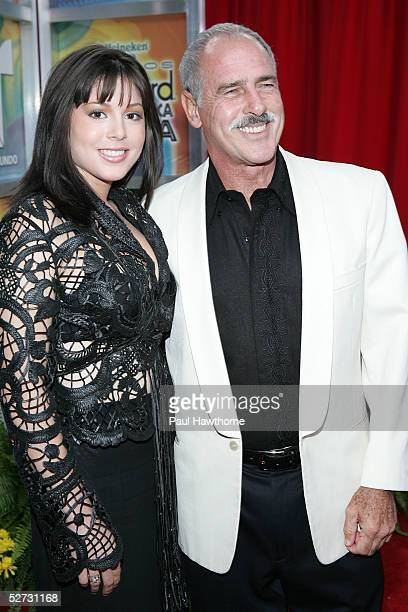 Actor Andres Garcia and guest arrive at the 2005 Billboard Latin Music Awards at the Miami Arena on April 28 2005 in Miami Florida