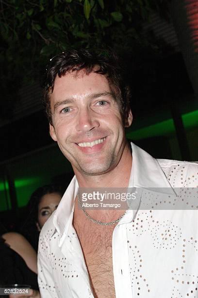 Actor Andres Garcia Jr poses at Ocean Drive en Espanol's 4th Anniversary Party on May 15 2005 in Miami Florida