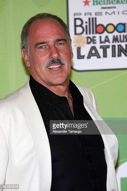 Actor Andres Garcia poses backstage at 2005 Billboard Latin Music Awards at the Miami Arena April 28 2005 in Miami Florida