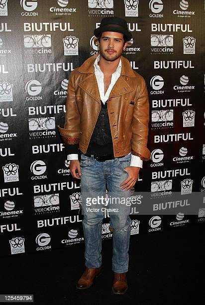 Actor Andres Mercado attends the Mexico City Premiere of 'Biutful' at Cinemex Antara Polanco on October 18 2010 in Mexico City Mexico