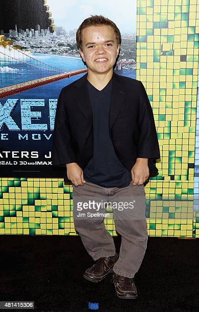 Actor Andrew Bambridge attends the 'Pixels' New York premiere at Regal EWalk on July 18 2015 in New York City