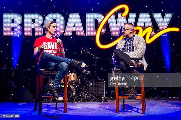Actor Andrew Briedis attends BroadwayCon 2016 at the New York Hilton Midtown on January 23 2016 in New York City