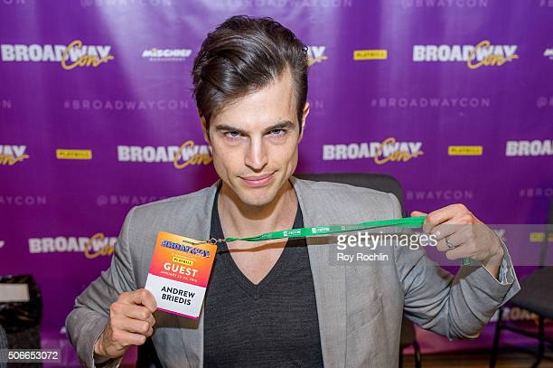 Actor Andrew Briedis attends BroadwayCon 2016 at the New York Hilton Midtown on January 24, 2016 in New York City.