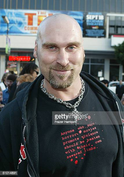 """Actor Andrew Bryniarski arrives at the World Premiere of """"LA Twister"""" on June 30, 2004 at the Grauman's Chinese Theatre, in Hollywood, California."""
