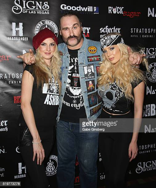 Actor Andrew Bryniarski attends the grand opening of guitarist Dj Ashba's Ashba Clothing Store at the Stratosphere Casino Hotel on April 7 2016 in...