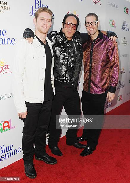Actor Andrew Dice Clay sons Dylan Silverstein and Max Silverstein arrive at the Los Angeles Premiere Blue Jasmine at the Academy of Motion Picture...