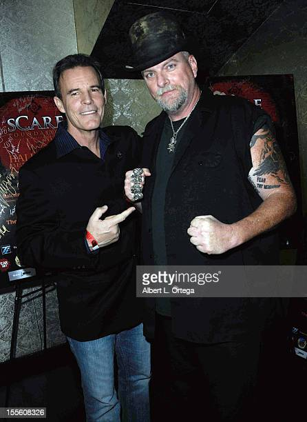Actor Andrew Divoff and actor Brett Wagner arrive for sCare Foundation's 2nd Annual Halloween Benefit held at The Conga Room at LA Live on October 28...