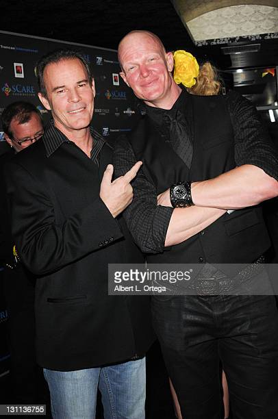 Actor Andrew Divoff and actor Derek Mears arrive for the sCare Foundation's 1st Annual Halloween Launch Benefit held at The Conga Room at LA Live on...