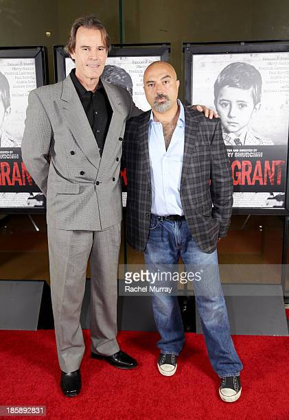 Actor Andrew Divoff and Writer/Director Barry Shurchin attend the Immigrant Film Premiere at Laemmle's Music Hall 3 on October 25 2013 in Beverly...