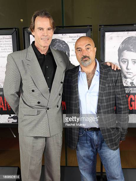 Actor Andrew Divoff and Writer/Director Barry Shurchin attends the 'Immigrant' Film Premiere at Laemmle's Music Hall 3 on October 25 2013 in Beverly...