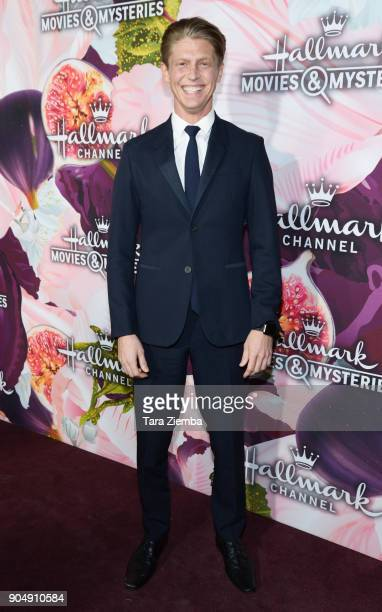 Actor Andrew Francis attends Hallmark Channel and Hallmark Movies and Mysteries Winter 2018 TCA Press Tour at Tournament House at Tournament House on...