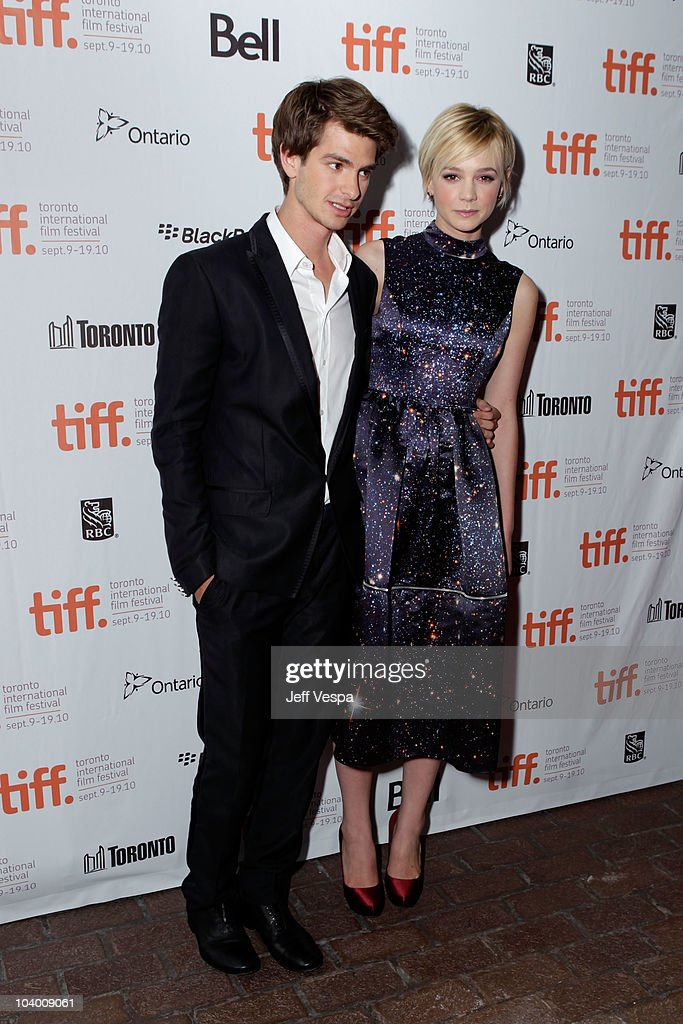 Actor Andrew Garfield and actress Carry Mulligan arrives at the 'Never Let Me Go' Premiere held at the Ryerson Theatre during the 35th Toronto International Film Festival on September 11, 2010 in Toronto, Canada.
