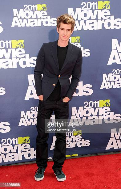 Actor Andrew Garfield arrives at the 2011 MTV Movie Awards at Universal Studios' Gibson Amphitheatre on June 5 2011 in Universal City California