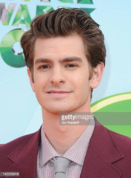 Actor Andrew Garfield arrives at the 2012 Nickelodeon's Kids' Choice Awards held at the Galen Center on March 31 2012 in Los Angeles California