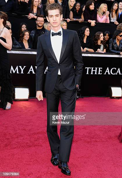 Actor Andrew Garfield arrives at the 83rd Annual Academy Awards held at the Kodak Theatre on February 27 2011 in Hollywood California