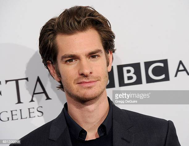 Actor Andrew Garfield arrives at The BAFTA Tea Party at Four Seasons Hotel Los Angeles at Beverly Hills on January 7 2017 in Los Angeles California