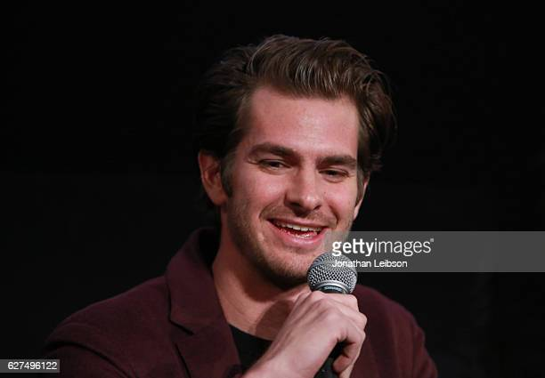 Actor Andrew Garfield at the American Cinematheque conversation with Director Martin Scorsese and Producer Irwin Winkler at the Egyptian Theatre on...