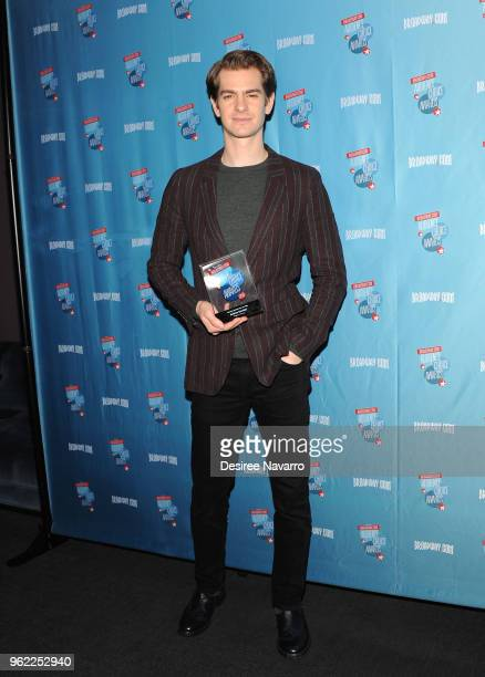 Actor Andrew Garfield attends Broadwaycom Audience Choice Awards at 48 Lounge on May 24 2018 in New York City