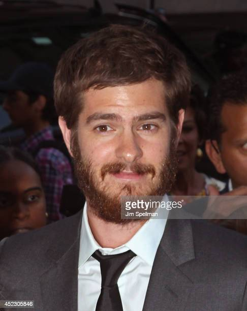 Actor Andrew Garfield attends 'Magic In The Moonlight' premiere at Paris Theater on July 17 2014 in New York City