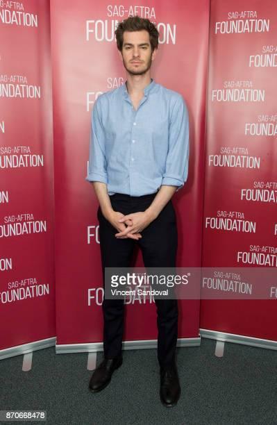 Actor Andrew Garfield attends SAGAFTRA Foundation Conversations with Andrew Garfield at SAGAFTRA Foundation Screening Room on November 5 2017 in Los...