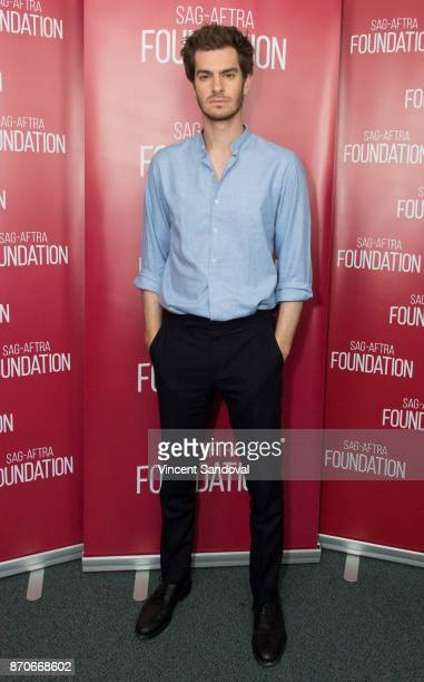 Actor Andrew Garfield attends SAGAFTRA Foundation Conversations with Andrew Garfield at SAGAFTRA Foundation Screening Room on November 5 2017 in Los...