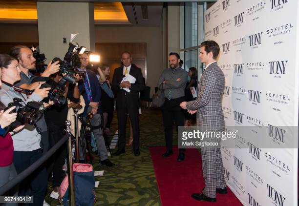 Actor Andrew Garfield attends the 2018 Tony Honors For Excellence In The Theatre and 2018 Special Award Recipients Cocktail Party at the Sofitel...