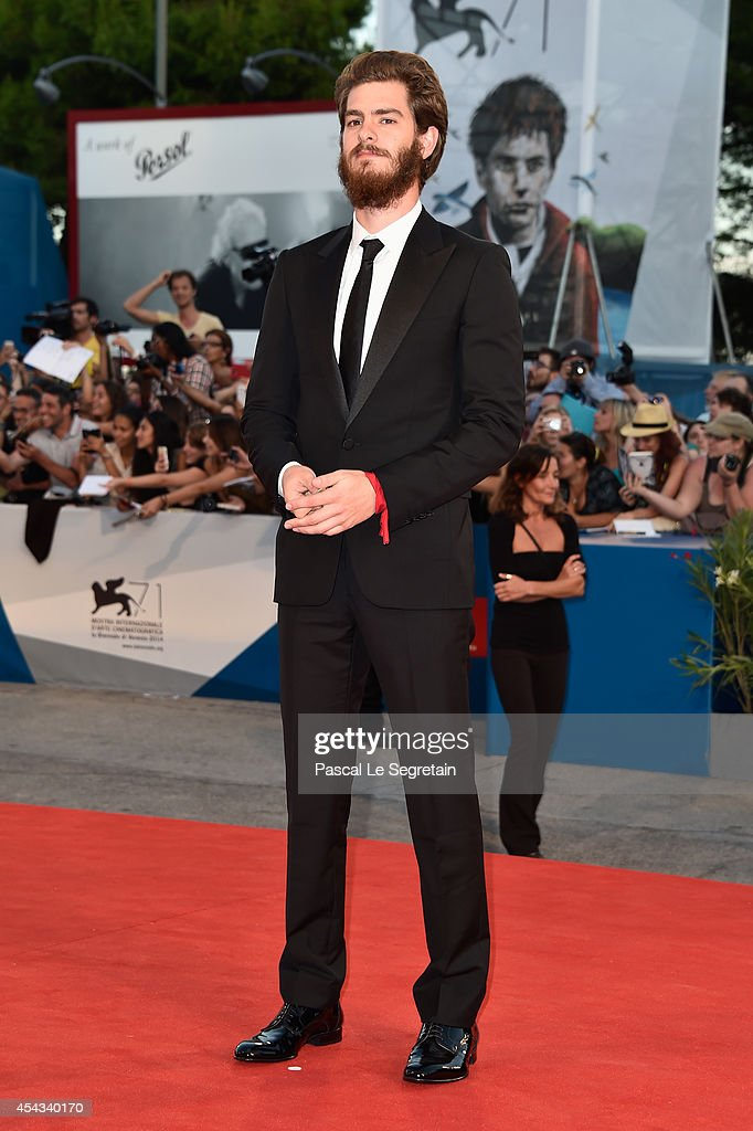 Actor Andrew Garfield attends the '99 Homes' premiere during the 71st Venice Film Festival on August 29, 2014 in Venice, Italy.