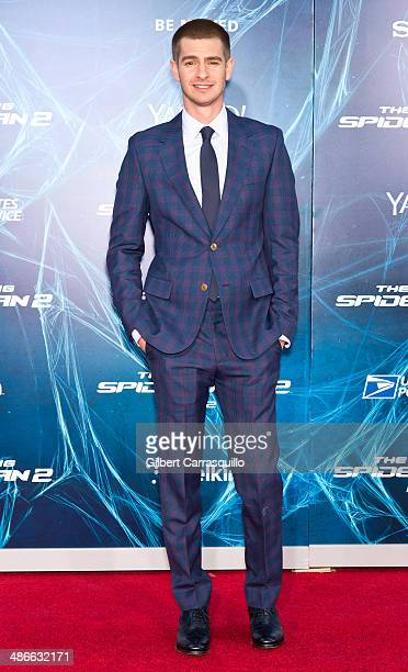 Actor Andrew Garfield attends 'The Amazing SpiderMan 2' premiere at the Ziegfeld Theater on April 24 2014 in New York City