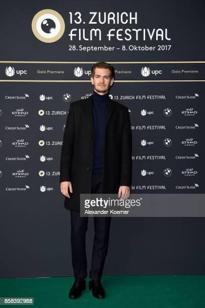 Actor Andrew Garfield attends the 'Breathe' premiere at the 13th Zurich Film Festival on October 6 2017 in Zurich Switzerland The Zurich Film...