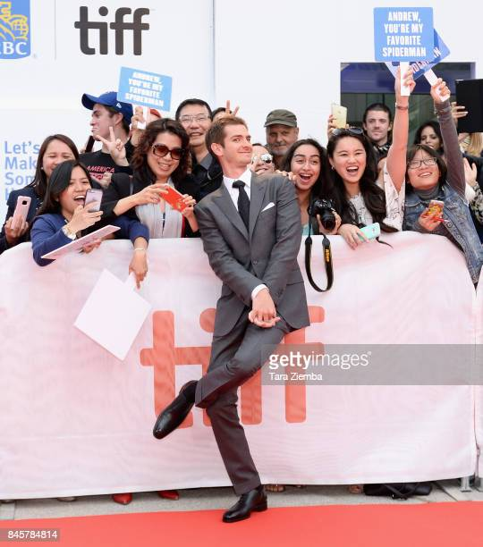 Actor Andrew Garfield attends the 'Breathe' premiere during the 2017 Toronto International Film Festival at Roy Thomson Hall on September 11 2017 in...