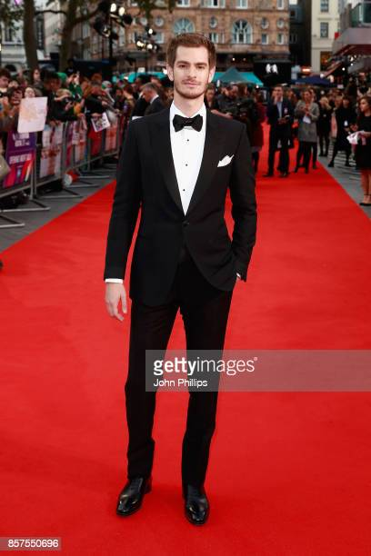 Actor Andrew Garfield attends the European Premiere of 'Breathe' on the opening night gala of the 61st BFI London Film Festival on October 4 2017 in...