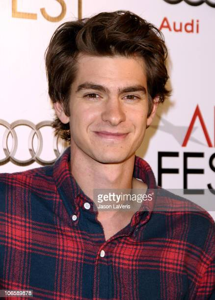 Actor Andrew Garfield attends the Los Angeles Times Young Hollywood Roundtable at the 2010 AFI Film Fest at the Egyptian Theatre on November 5 2010...