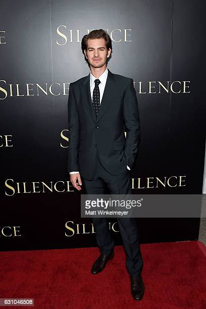 Actor Andrew Garfield attends the premiere of Paramount Pictures' 'Silence' at Directors Guild Of America on January 5 2017 in Los Angeles California