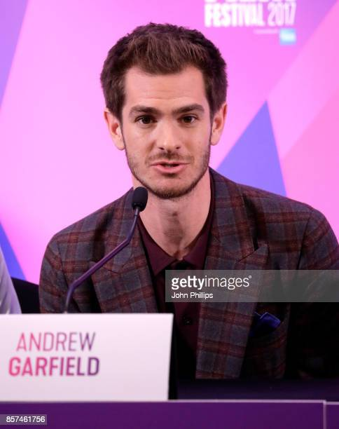 Actor Andrew Garfield attends the press conference for 'Breathe' during the 61st BFI London Film Festival on October 4 2017 in London England